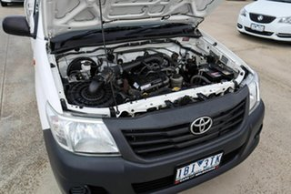 2014 Toyota Hilux TGN16R MY14 Workmate 4x2 White 4 Speed Automatic Cab Chassis