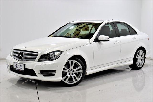 Used Mercedes-Benz C-Class W204 MY13 C250 CDI 7G-Tronic + Elegance Brooklyn, 2013 Mercedes-Benz C-Class W204 MY13 C250 CDI 7G-Tronic + Elegance White 7 Speed Sports Automatic