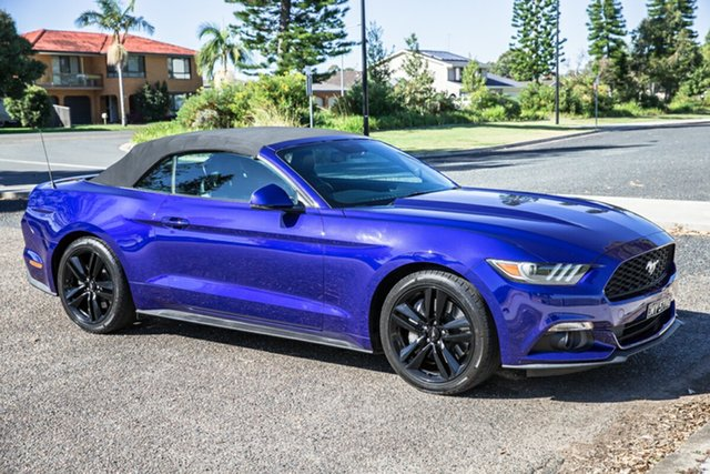 Used Ford Mustang FM SelectShift Port Macquarie, 2015 Ford Mustang FM SelectShift Blue 6 Speed Sports Automatic Convertible