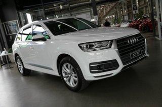 2018 Audi Q7 4M MY18 TDI Tiptronic Quattro White 8 Speed Sports Automatic Wagon