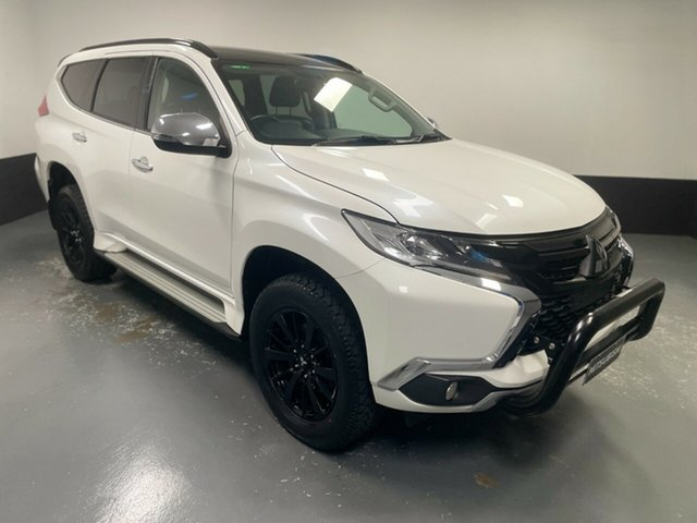 Used Mitsubishi Pajero Sport QE MY19 Black Edition Hamilton, 2018 Mitsubishi Pajero Sport QE MY19 Black Edition White 8 Speed Sports Automatic Wagon