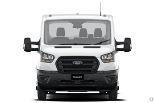 2020 Ford Transit 430E White 10 Speed Automatic Single Cab Cab Chassis.