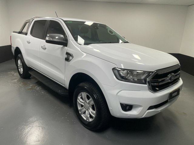 Used Ford Ranger PX MkIII 2019.00MY XLT Cardiff, 2018 Ford Ranger PX MkIII 2019.00MY XLT Frozen White 10 Speed Sports Automatic Utility