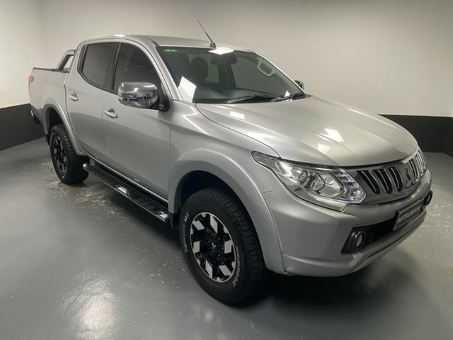 Used Mitsubishi Triton MQ MY16 Exceed Double Cab Hamilton, 2015 Mitsubishi Triton MQ MY16 Exceed Double Cab Silver, Chrome 5 Speed Sports Automatic Utility