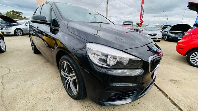 Used BMW 2 Series F45 218i Active Tourer Steptronic Sport Line Maidstone, 2016 BMW 2 Series F45 218i Active Tourer Steptronic Sport Line Black 6 Speed Automatic Hatchback