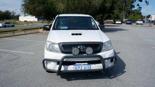 2008 Toyota Hilux KUN16R MY08 SR 4x2 White 5 Speed Manual Utility.