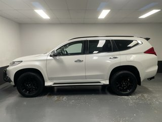 2018 Mitsubishi Pajero Sport QE MY19 Black Edition White 8 Speed Sports Automatic Wagon