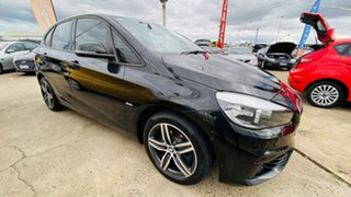 2016 BMW 2 Series F45 218i Active Tourer Steptronic Sport Line Black 6 Speed Automatic Hatchback.