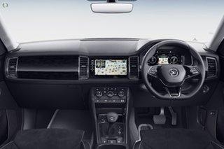 2021 Skoda Kodiaq NS MY21 132TSI DSG White 7 Speed Sports Automatic Dual Clutch Wagon.