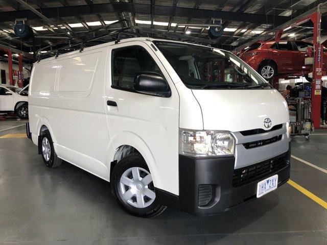 Pre-Owned Toyota HiAce KDH201R LWB Oakleigh, 2016 Toyota HiAce KDH201R LWB French Vanilla 5 Speed Manual Van