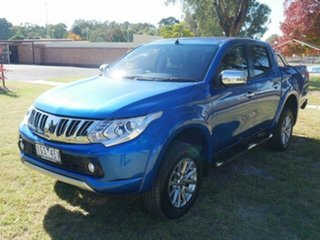 2016 Mitsubishi Triton MQ MY16 GLS (4x4) Blue 6 Speed Manual Dual Cab Utility