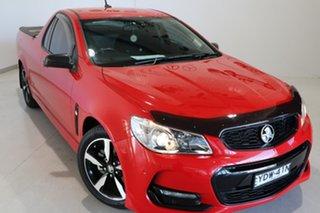 2016 Holden Ute VF II MY16 SV6 Ute Black Red 6 Speed Manual Utility.