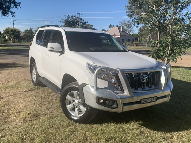 Pre-Owned Toyota Landcruiser Prado GDJ150R GXL Moree, 2015 Toyota Landcruiser Prado GDJ150R GXL Glacier White 6 Speed Sports Automatic Wagon