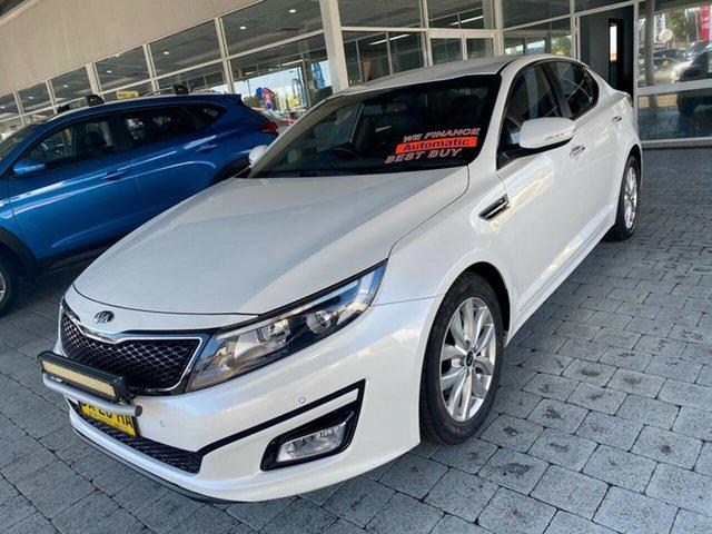 Used Kia Optima SI Taree, 2015 Kia Optima SI White Sports Automatic Sedan