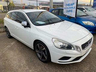 2012 Volvo V60 F Series MY13 T5 PwrShift White 6 Speed Sports Automatic Dual Clutch Wagon.