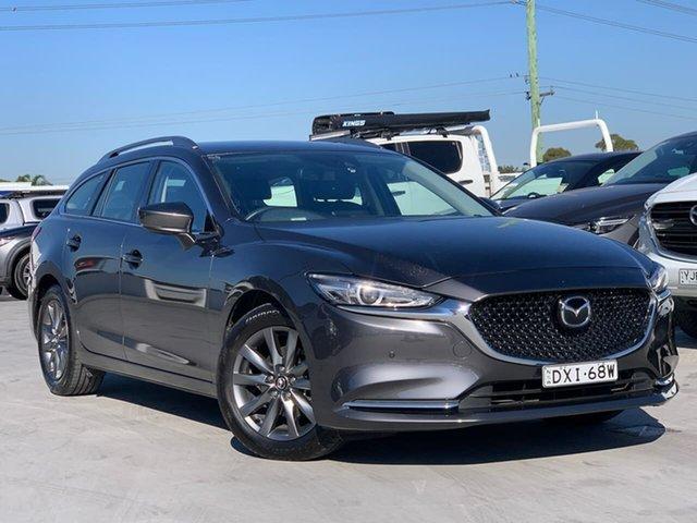 Used Mazda 6 GL1031 Touring SKYACTIV-Drive Liverpool, 2018 Mazda 6 GL1031 Touring SKYACTIV-Drive Machine Grey 6 Speed Sports Automatic Wagon