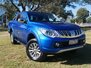 2016 Mitsubishi Triton MQ MY16 GLS (4x4) Blue 6 Speed Manual Dual Cab Utility.