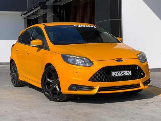 Used Ford Focus LW MkII ST Liverpool, 2013 Ford Focus LW MkII ST Yellow 6 Speed Manual Hatchback