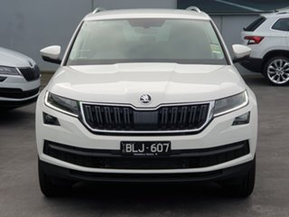 2020 Skoda Kodiaq NS MY21 132TSI DSG White 7 Speed Sports Automatic Dual Clutch Wagon.