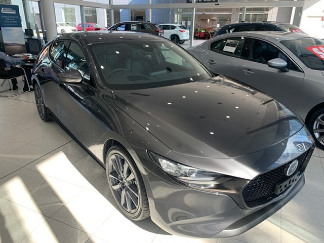 New Mazda 3 BP2HLA G25 SKYACTIV-Drive GT Alexandria, 2021 Mazda 3 BP2HLA G25 SKYACTIV-Drive GT Machine Grey 6 Speed Sports Automatic Hatchback