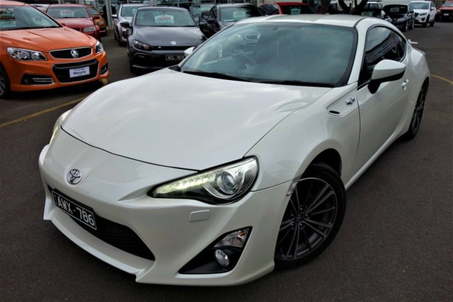 Used Toyota 86 ZN6 GTS Seaford, 2013 Toyota 86 ZN6 GTS White 6 Speed Sports Automatic Coupe