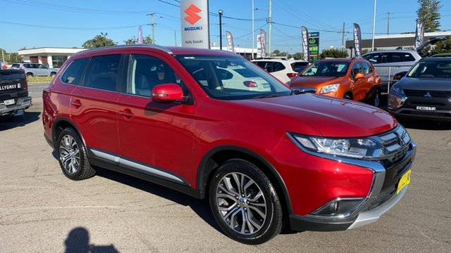 Used Mitsubishi Outlander ZK MY17 LS 2WD Cardiff, 2017 Mitsubishi Outlander ZK MY17 LS 2WD Red 6 Speed Constant Variable Wagon