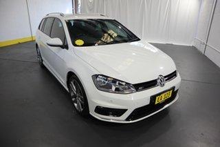 2015 Volkswagen Golf VII MY15 103TSI DSG Highline White 7 Speed Sports Automatic Dual Clutch Wagon.