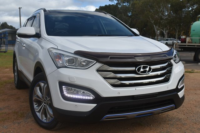Used Hyundai Santa Fe DM MY14 Highlander St Marys, 2014 Hyundai Santa Fe DM MY14 Highlander White 6 Speed Sports Automatic Wagon