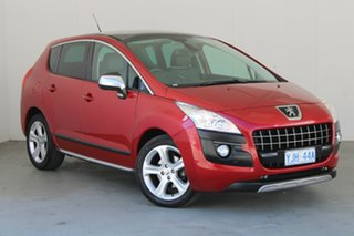 2012 Peugeot 3008 T8 MY12 Allure SUV Red 6 Speed Sports Automatic Hatchback.