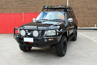 2009 Nissan Patrol GU VI ST (4x4) Black 5 Speed Manual Wagon.