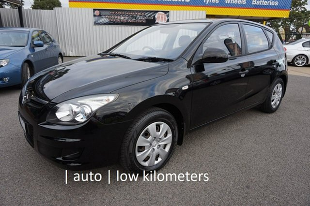 Used Hyundai i30 FD MY11 SX Dandenong, 2011 Hyundai i30 FD MY11 SX Phantom Black 4 Speed Automatic Hatchback