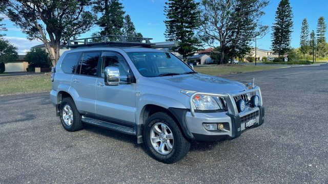 Used Toyota Landcruiser Prado KDJ120R GXL Port Macquarie, 2008 Toyota Landcruiser Prado KDJ120R GXL Silver 5 Speed Automatic Wagon