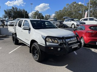 2017 Holden Colorado RG MY17 LS Crew Cab White 6 Speed Manual Cab Chassis.