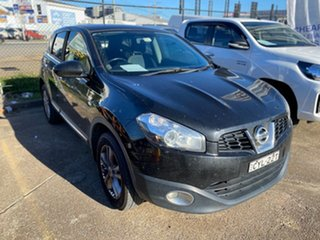 2013 Nissan Dualis J10W Series 4 MY13 TS Hatch 2WD Black 6 Speed Manual Hatchback.