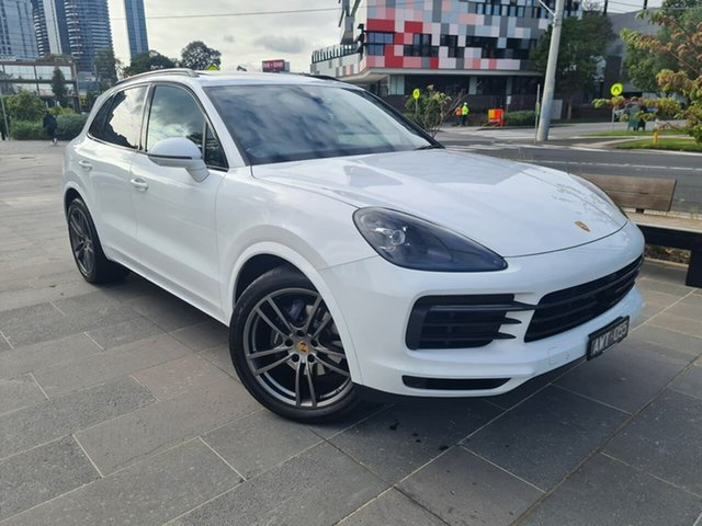 Used Porsche Cayenne 9YA MY19 Tiptronic South Melbourne, 2018 Porsche Cayenne 9YA MY19 Tiptronic White 8 Speed Sports Automatic Wagon