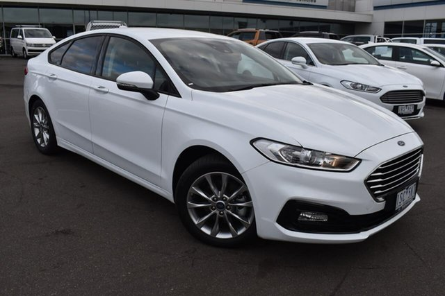 Used Ford Mondeo MD 2019.5MY Ambiente Essendon Fields, 2019 Ford Mondeo MD 2019.5MY Ambiente White 6 Speed Sports Automatic Dual Clutch Hatchback