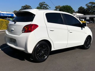 2013 Mitsubishi Mirage LA MY14 ES White 5 Speed Manual Hatchback