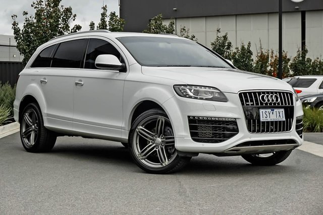 Used Audi Q7 4L MY15 TDI Tiptronic Quattro Essendon Fields, 2015 Audi Q7 4L MY15 TDI Tiptronic Quattro White 8 Speed Sports Automatic Wagon
