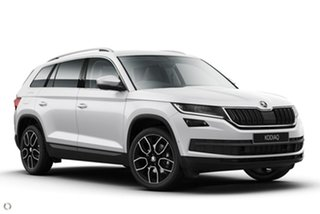 2021 Skoda Kodiaq NS MY21 132TSI DSG White 7 Speed Sports Automatic Dual Clutch Wagon