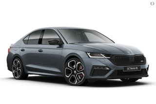 2021 Skoda Octavia NX MY21 RS Sedan DSG Grey 7 Speed Sports Automatic Dual Clutch Liftback.