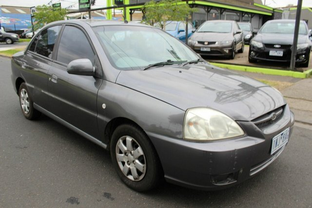 Used Kia Rio MY03 LS West Footscray, 2003 Kia Rio MY03 LS Grey 4 Speed Automatic Sedan
