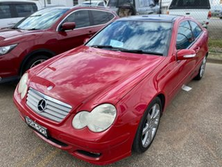 2006 Mercedes-Benz C-Class CL203 MY2006 C180 Kompressor Sports Evolution Red 5 Speed Automatic Coupe.