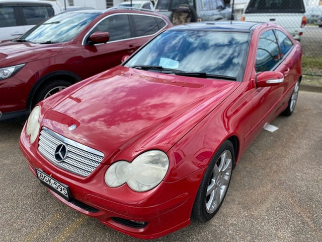 Used Mercedes-Benz C-Class CL203 MY2006 C180 Kompressor Sports Evolution Wickham, 2006 Mercedes-Benz C-Class CL203 MY2006 C180 Kompressor Sports Evolution Red 5 Speed Automatic Coupe