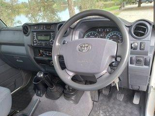 2013 Toyota Landcruiser VDJ79R GXL White Manual Cab Chassis