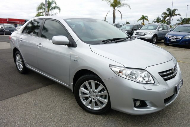 Used Toyota Corolla ZRE153R MY10 Ultima Cheltenham, 2010 Toyota Corolla ZRE153R MY10 Ultima Silver 4 Speed Automatic Sedan