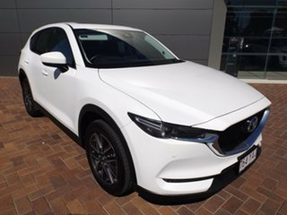 2018 Mazda CX-5 KF4WLA GT SKYACTIV-Drive i-ACTIV AWD Snowflake White 6 Speed Sports Automatic Wagon.