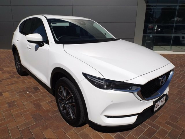 Used Mazda CX-5 KF4WLA GT SKYACTIV-Drive i-ACTIV AWD Toowoomba, 2018 Mazda CX-5 KF4WLA GT SKYACTIV-Drive i-ACTIV AWD Snowflake White 6 Speed Sports Automatic Wagon