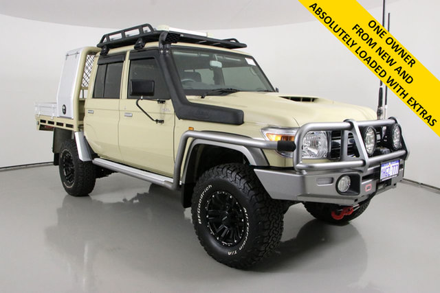 Used Toyota Landcruiser VDJ79R GXL (4x4) Bentley, 2019 Toyota Landcruiser VDJ79R GXL (4x4) Sandy Taupe 5 Speed Manual Double Cab Chassis