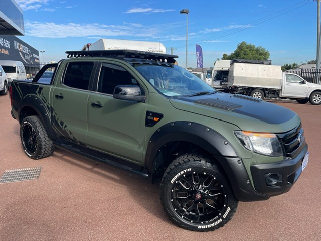 Used Ford Ranger PX XL 2.2 (4x4) St James, 2013 Ford Ranger PX XL 2.2 (4x4) Green 6 Speed Manual Crew Cab Utility