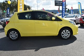 2015 Toyota Yaris NCP130R Ascent Yellow 4 Speed Automatic Hatchback.